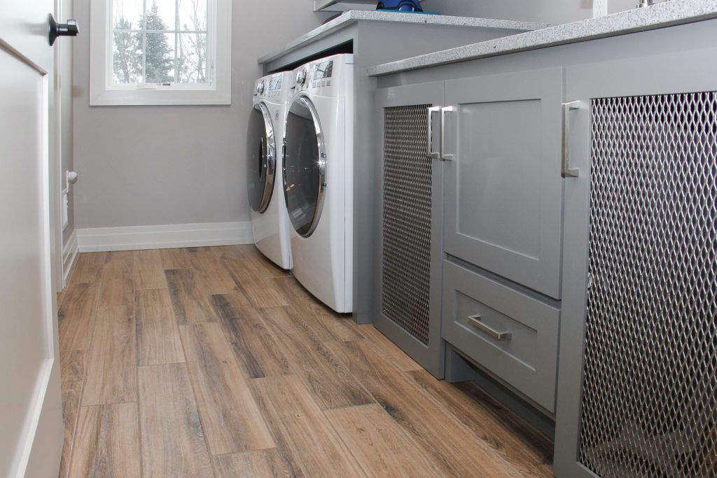 Light Wood Look Laundry Room Tile Floor House Flooring Laundry