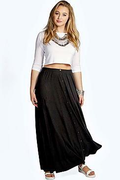6dfebba7bca Plus Rae Pocket Front Jersey Maxi Skirt