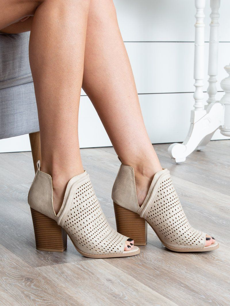 dressy open toe booties