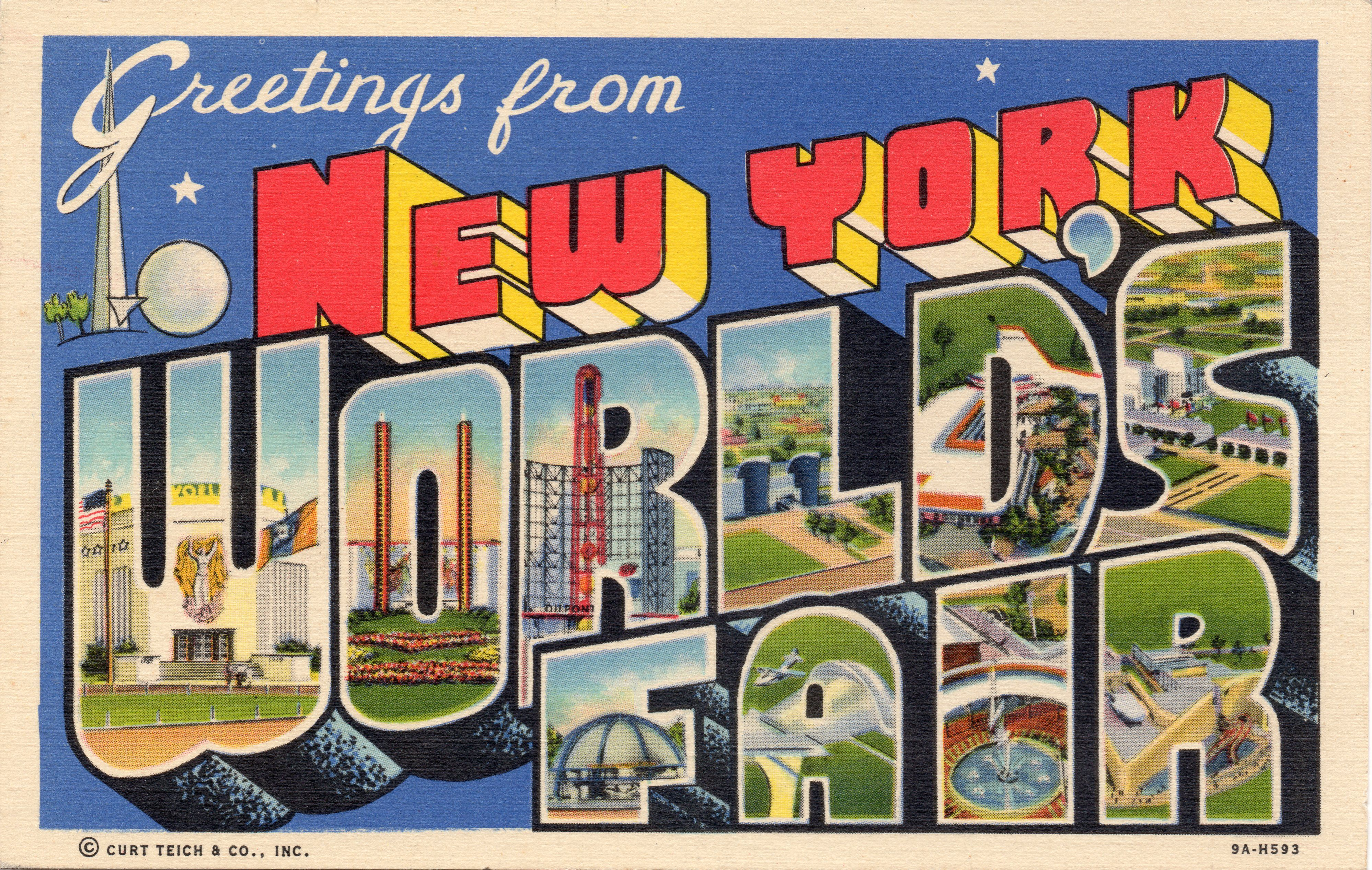 New york worlds fair greetings from new york worlds fair curt linen postcard greetings from new york worlds fair 1939 ny worlds fair kristyandbryce Images