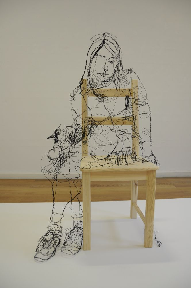 Feeling Wired | Draht, Skulptur und Metall