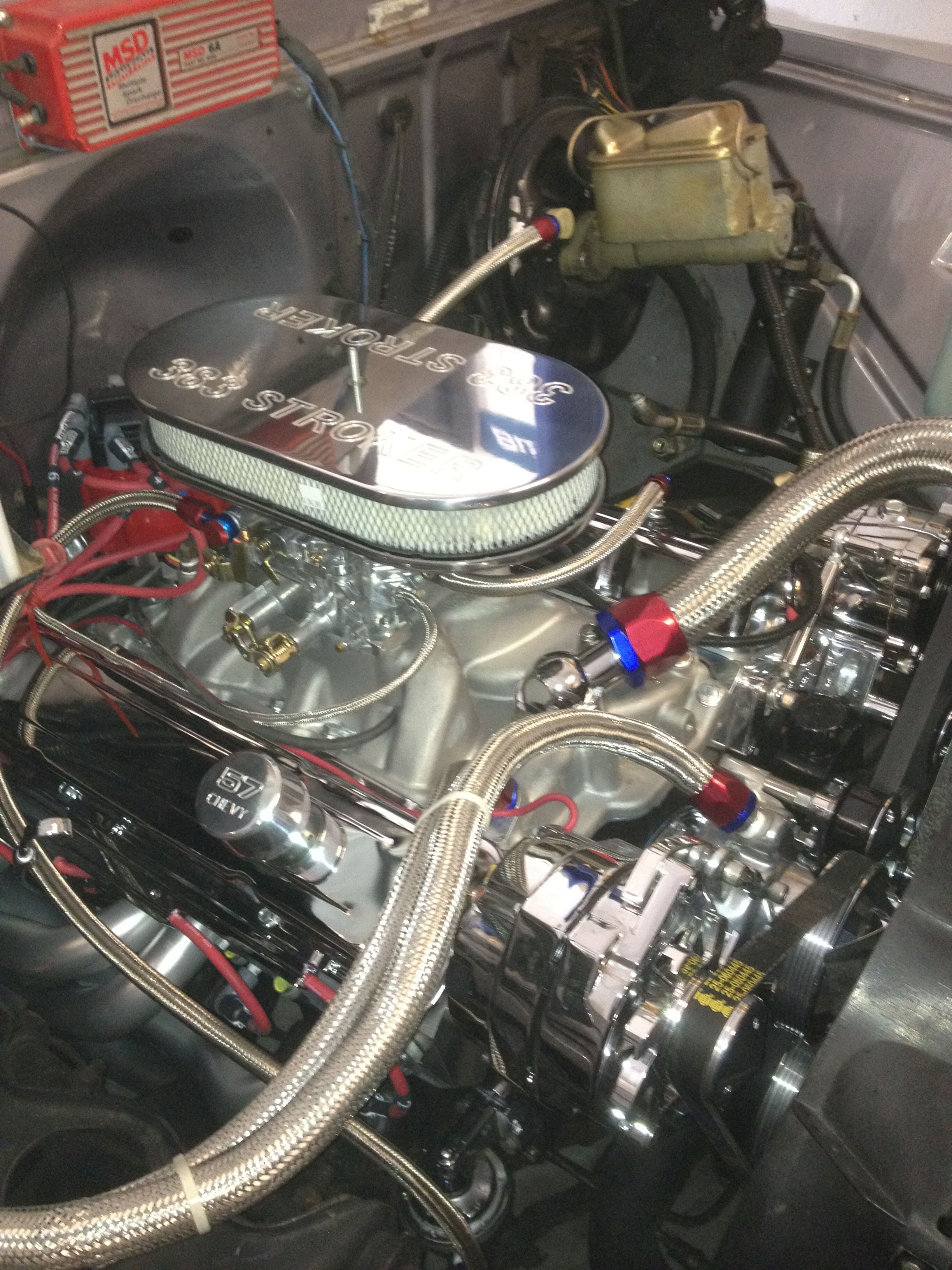 Tim overstreet a blueprint engines customer has installed our tim overstreet a blueprint engines customer has installed our bp38313ctc1 under the hood of his 1957 chevy pickup the engine with all of its accessories malvernweather Gallery