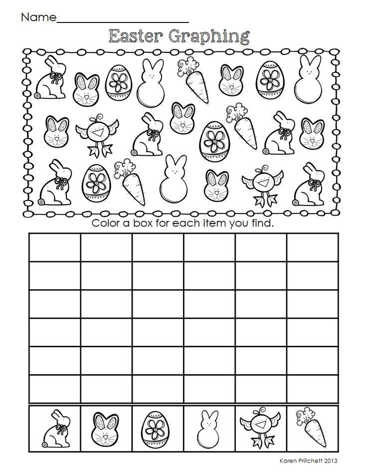 Easter Graphing – Graphing Worksheet Kindergarten
