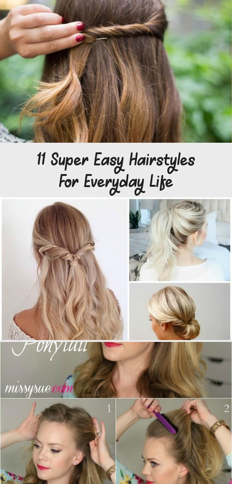 4 Super Simple Everyday Hairstyles - Hairstyle These quick
