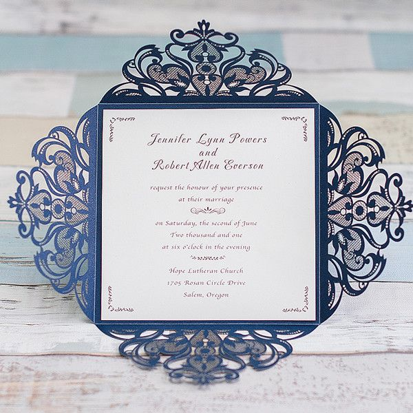 Affordable Laser Cut Wedding Invitations at elegantweddinginvites – Discount Wedding Invitations with Free Response Cards
