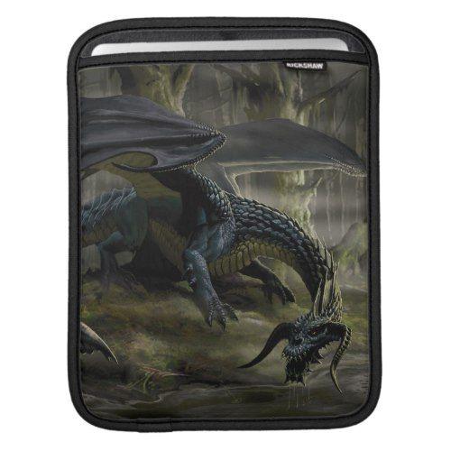 Black Dragon iPad Sleeve