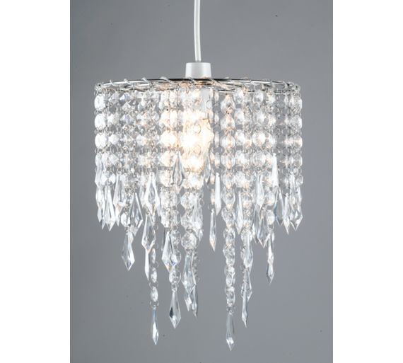 Buy home beaded shade clear at argos co uk your online shop