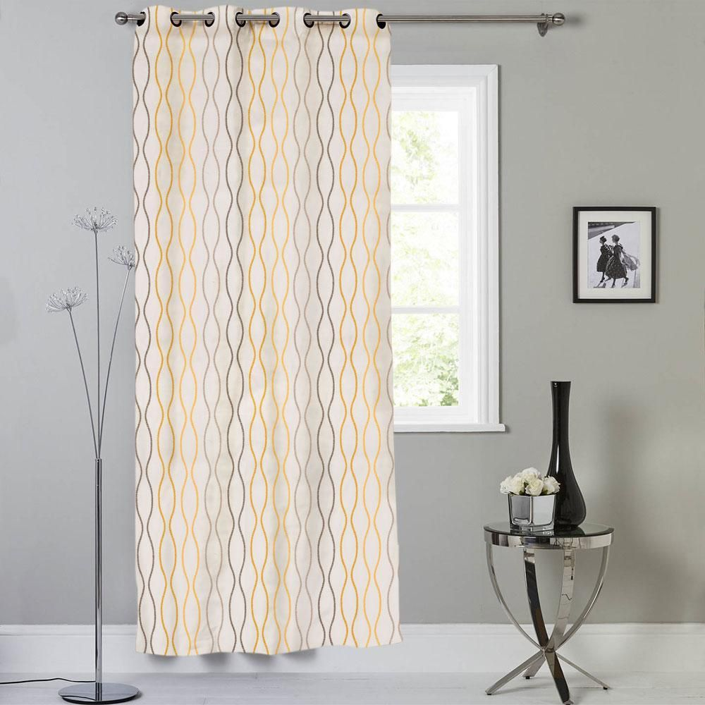 Mb Contrast Lining Design One Piece Eyelet Curtain For Just