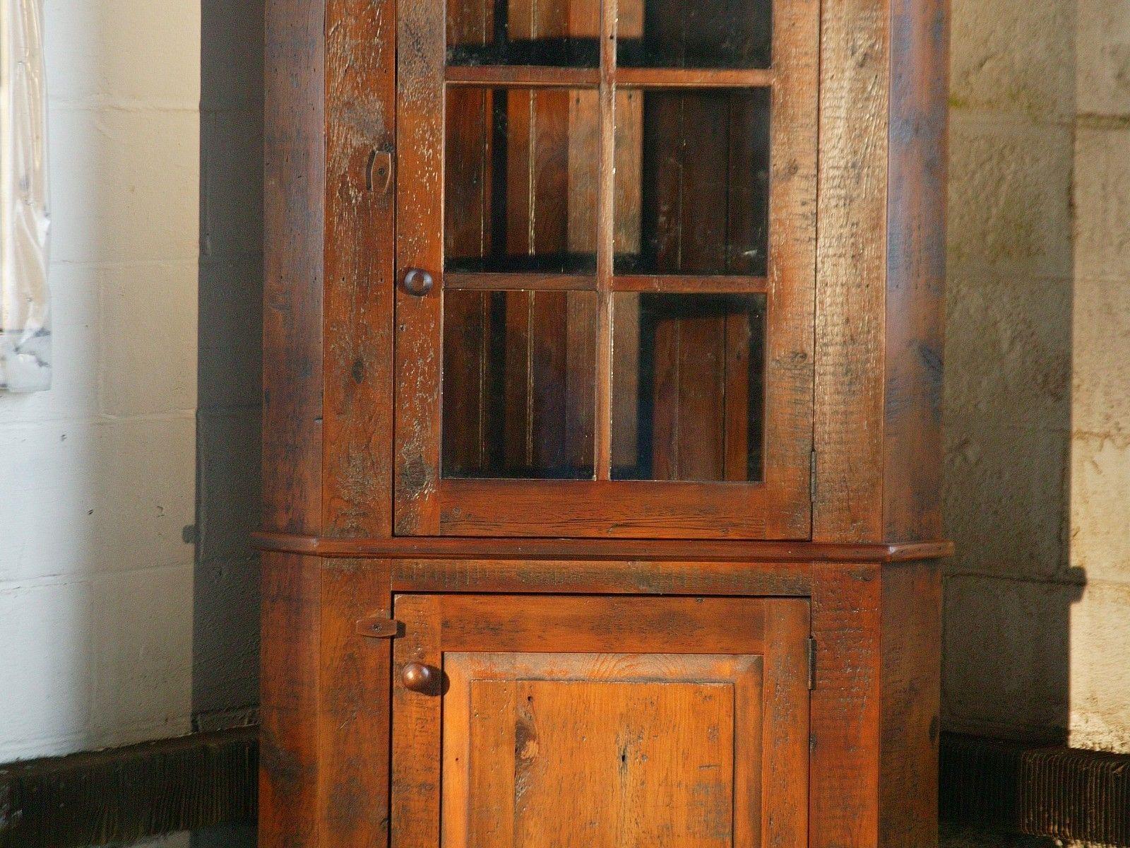 Corner With Glass Door Rustic corner