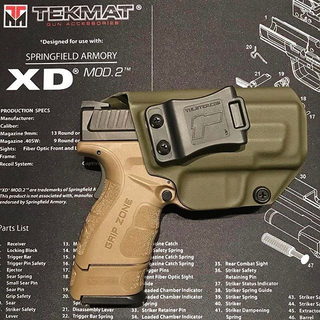 Springfield Mod2 Kydex Holster Holsters