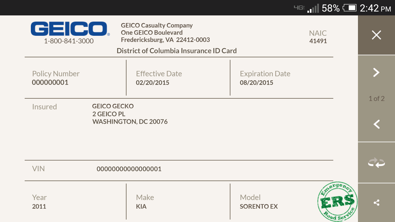 Can You Pay Car Insurance With A Credit Card Progressive Geico Mobile Screenshot Can You Pay Car Insura Id Card Template Card Templates Free Card Templates