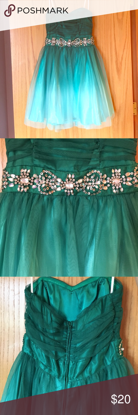 Green ombré short homecoming dress pinterest short homecoming