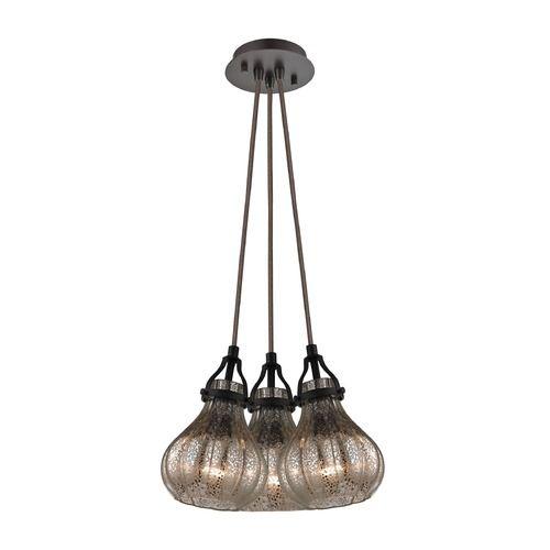 mercury glass multilight pendant oil rubbed bronze elk lighting