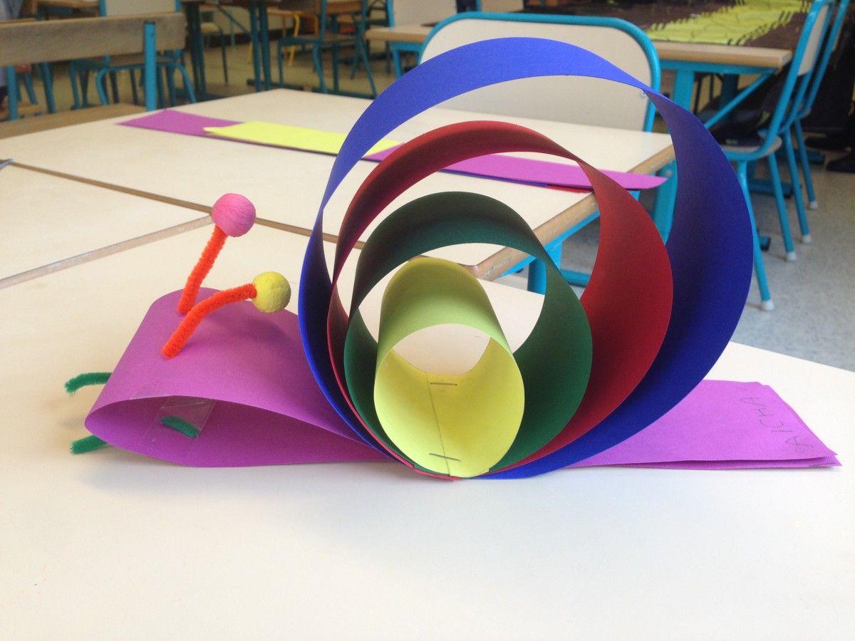 Escargot en volume le voyage de l 39 escargot art visuel maternelle la maternelle de wendy - Escargot maternelle ...