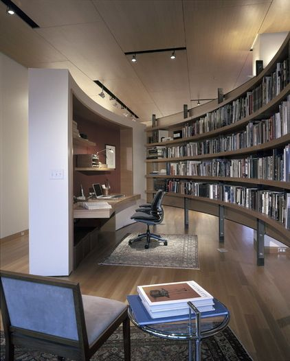 Bookshelves Contemporary Home Office By Gunkelmans Interior