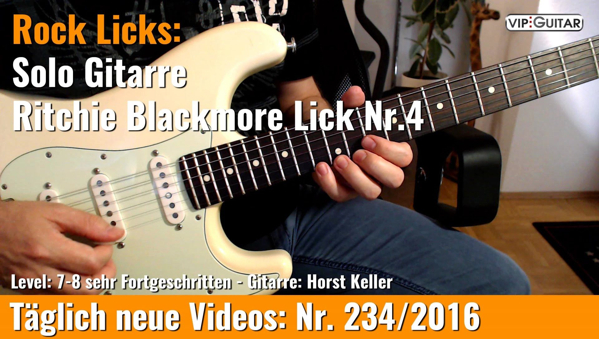✪ Rock Licks ▻Solo Gitarre - Ritchie Blackmore Lick Nr 4