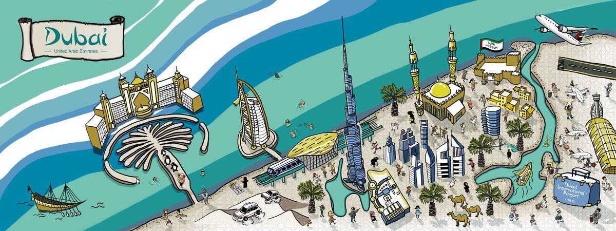 Dubai United Arab Emirates by Gerry Rego