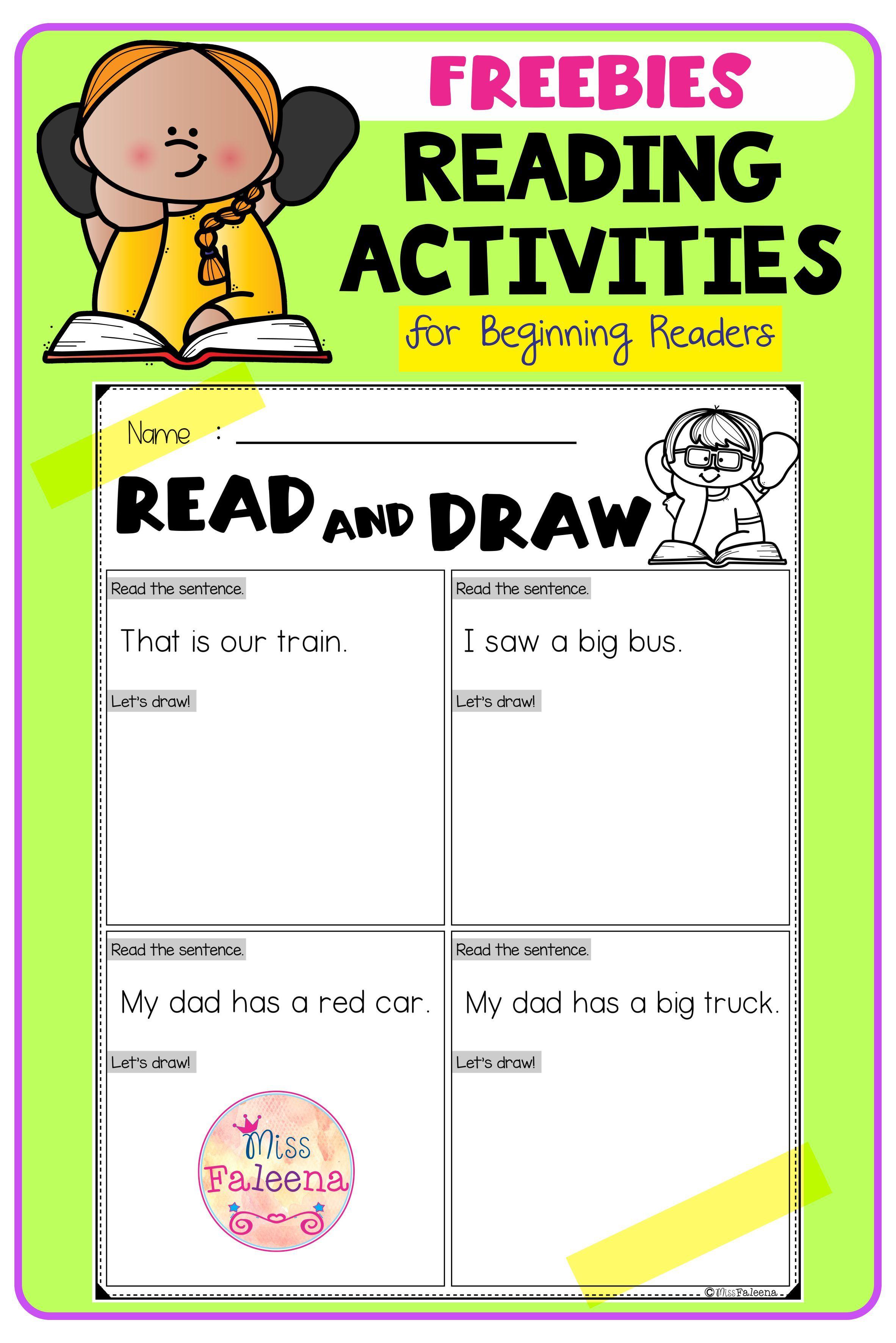Free Reading Activities Reading Activities Reading Comprehension Activities Teaching First Grade [ 3544 x 2364 Pixel ]
