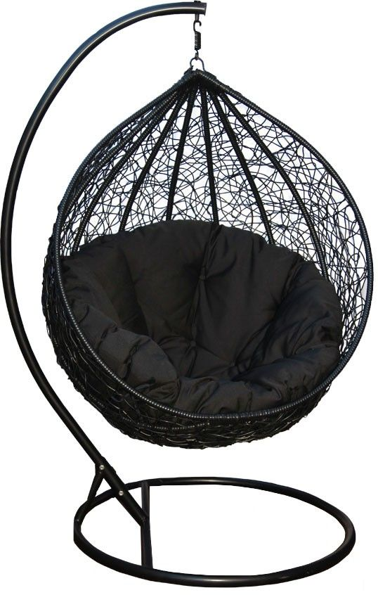 Black Eclipse Hanging Egg Chair U0026 Curved Stand   FREE SYDNEY PICK UP