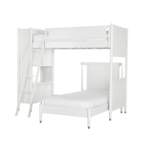 Found it at AllModern - Mid-Century French White Loft Bed with Twin Bed