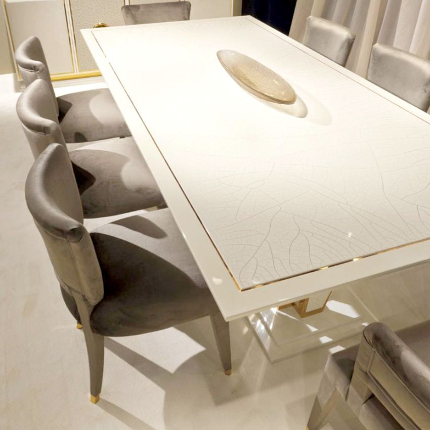 Grand Luxury Gold Ivory Lacquered Dining Table Taylor Llorente Furniture Dining Table Gold Contemporary Dining Table Dining Furniture Makeover