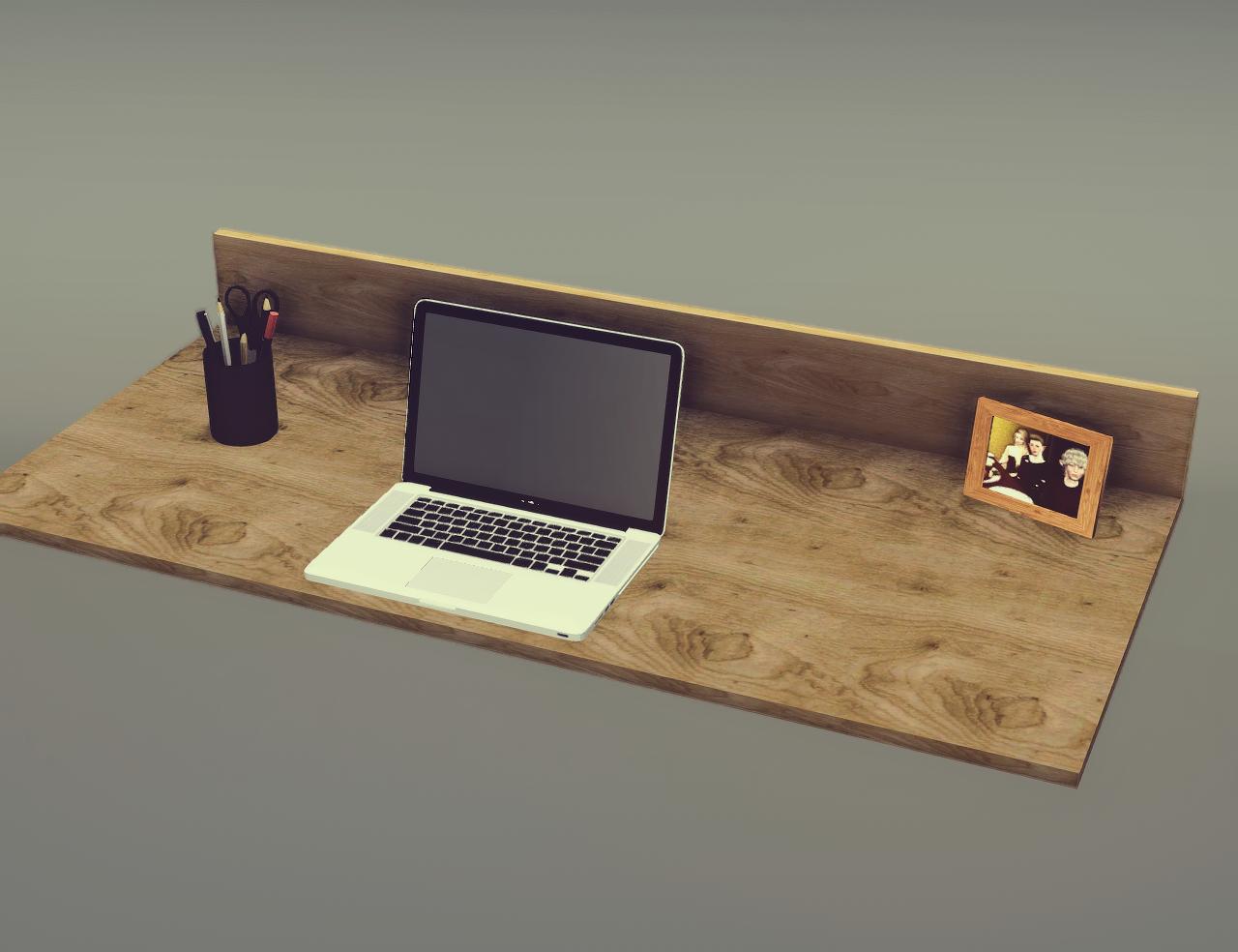 Kale house floating desk