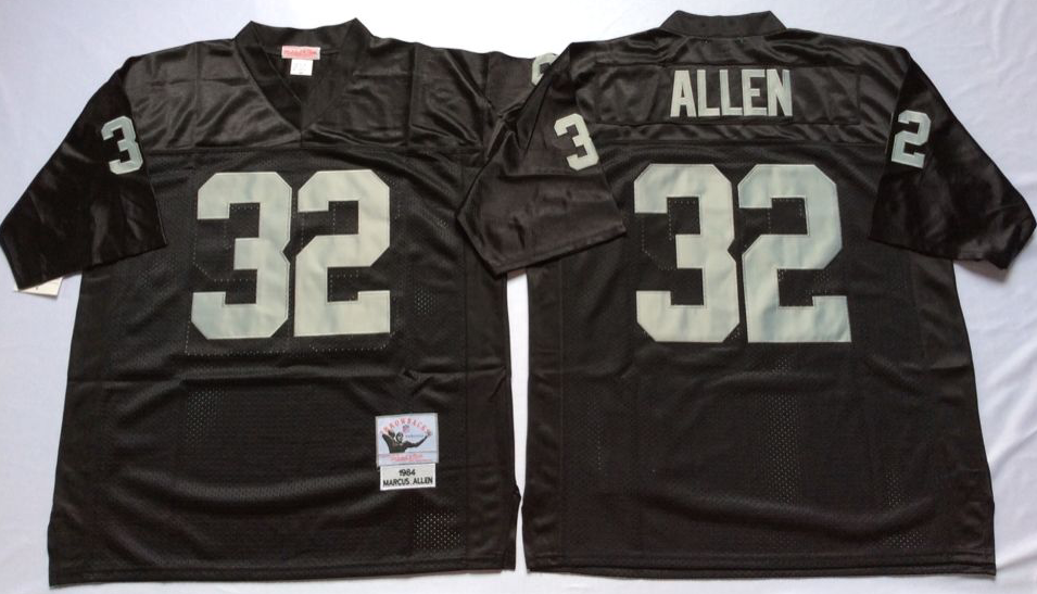 huge selection of 5bb11 0e005 Men NFL Oakland Raiders 32 Allen black Mitchell Ness jerseys ...