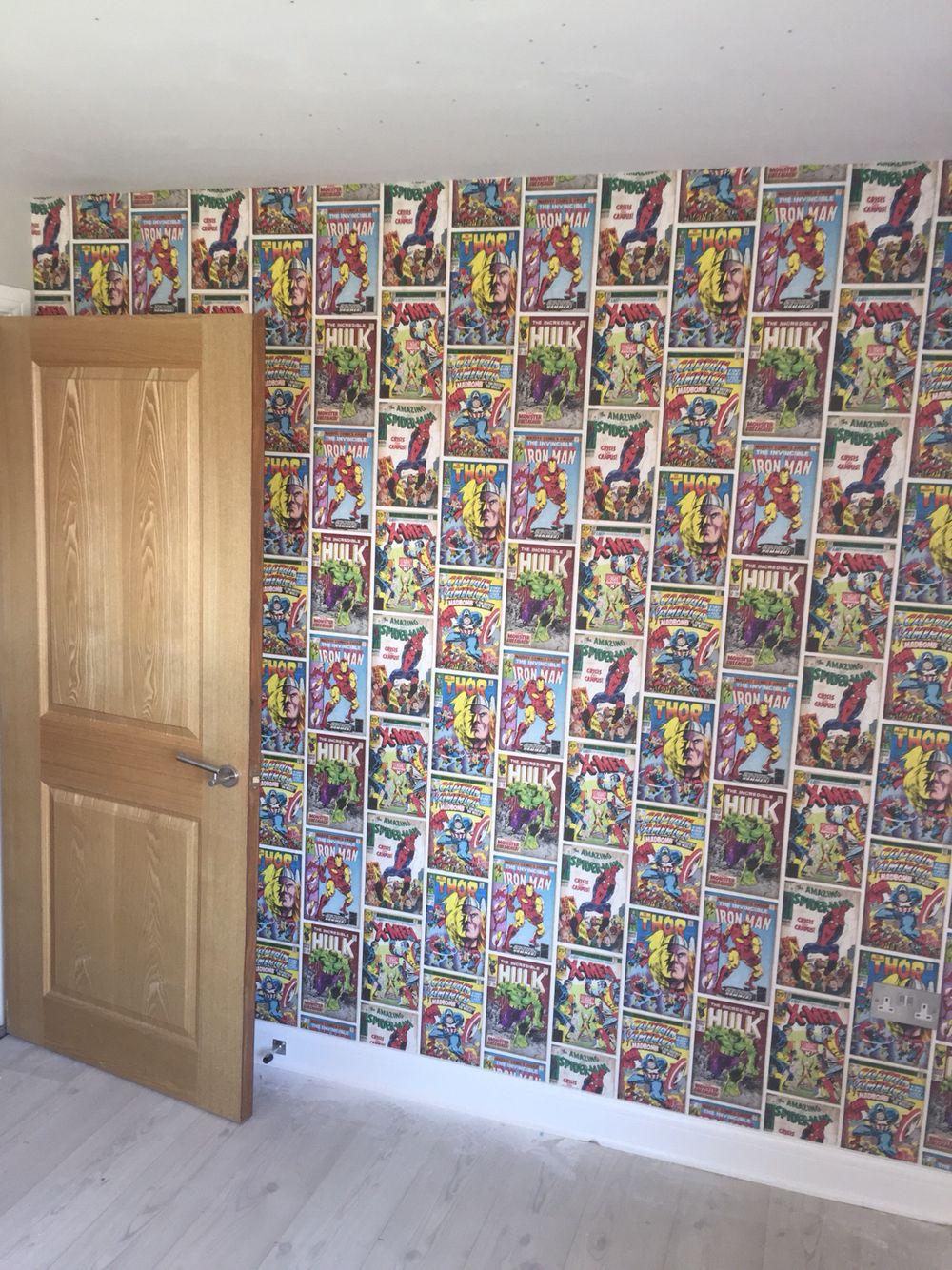 Marvel Wallpaper For Bedroom Graham Brown Comics Strip Wallpaper Multi Bedroom Boys