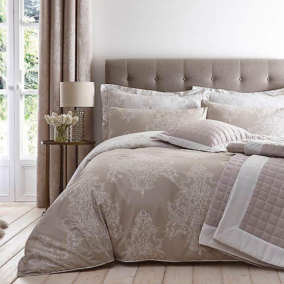 Versailles Natural Reversible Duvet Cover And Pillowcase Set Reversible Duvet Covers Duvet Covers Pink Duvet Cover