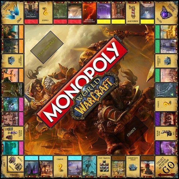 Monopoly Nerd Edition World Of Warcraft Warcraft Pop Art Painting