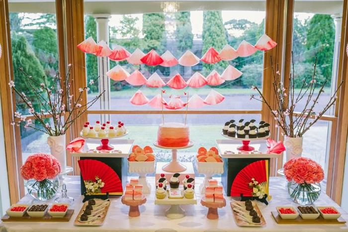 Japanese Ombre Birthday Party Ponji Pinterest Themed