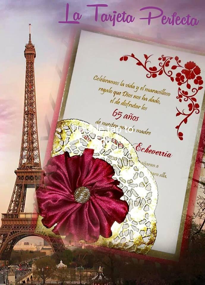 Tarjetas De Invitación Cumpleaños Mujer Tarjetas