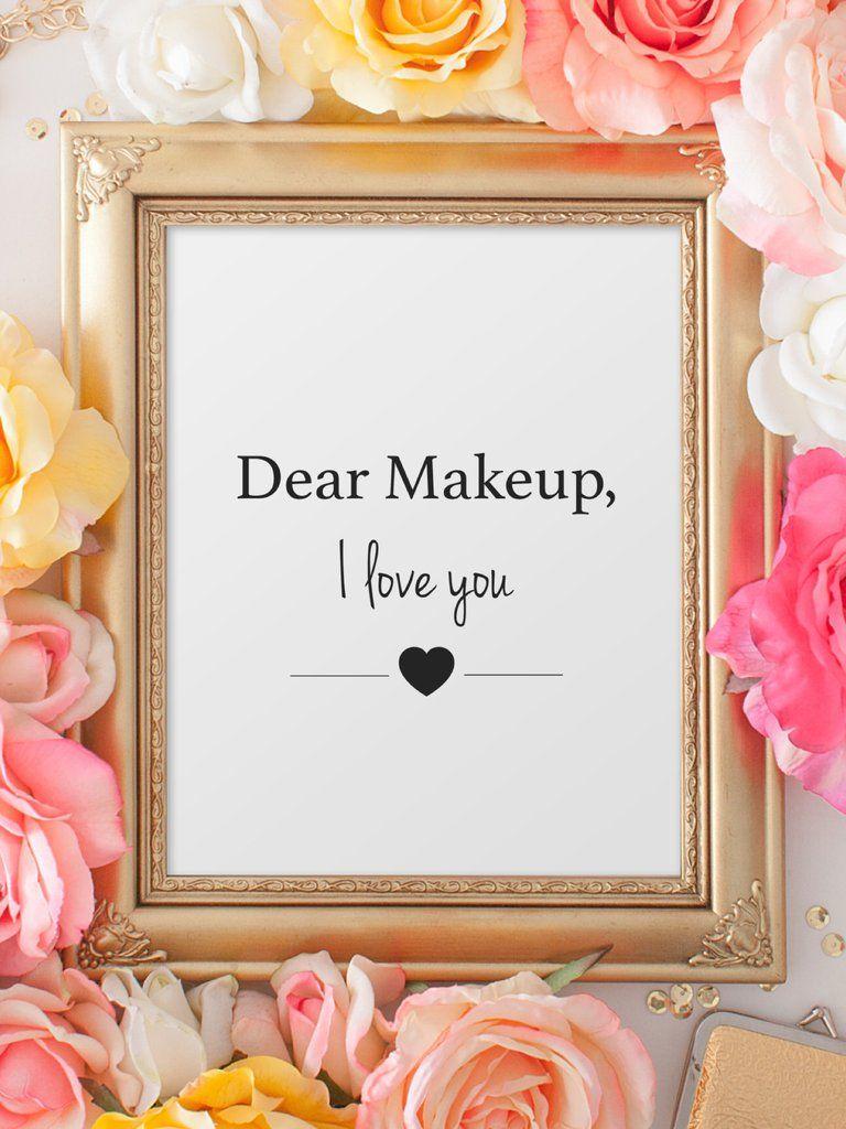 Limited edition typography prints makeup u eyeliner makeup