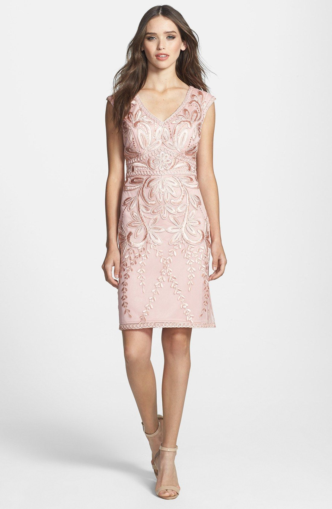 Sue Wong Embroidered Sheath Dress Available At Pretty Patterned