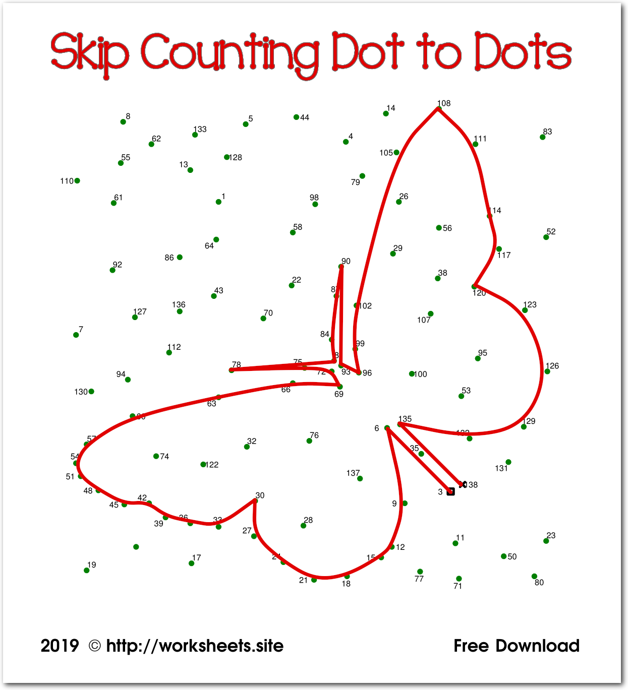 Skip Counting Printables Counting Puzzles Free Dot To