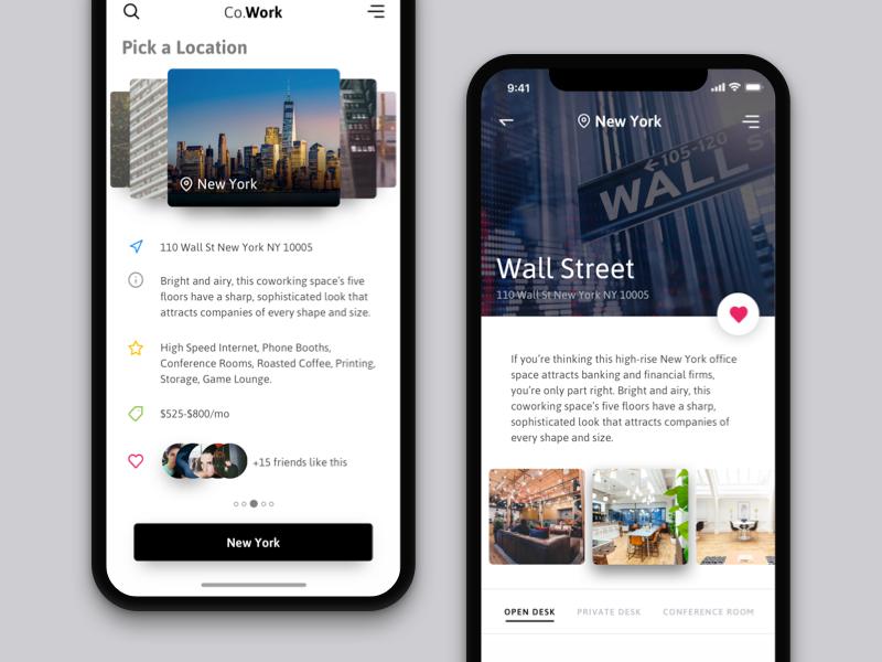 Co-working space booking app | Dribbble / ui | Pinterest | App, Ui ...