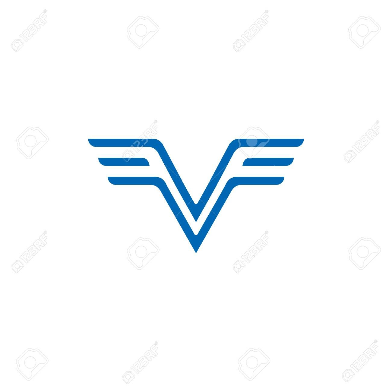 Letters Vf Simple Wing Logo Vector Sponsored Simple Vf Letters Vector Logo Print Portfolio Design Graphic Design Portfolio Print Vector Logo
