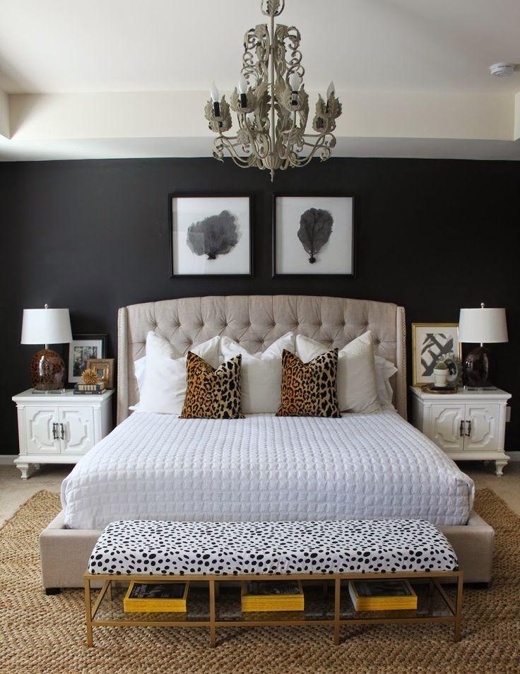 Leopard Accents Bedroom Makeover Luxurious Bedrooms Master Bedroom Design