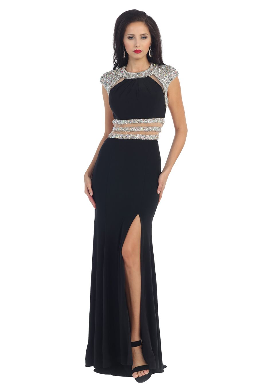 Glitzy and shimmering this gown from may queen rq is alluringly