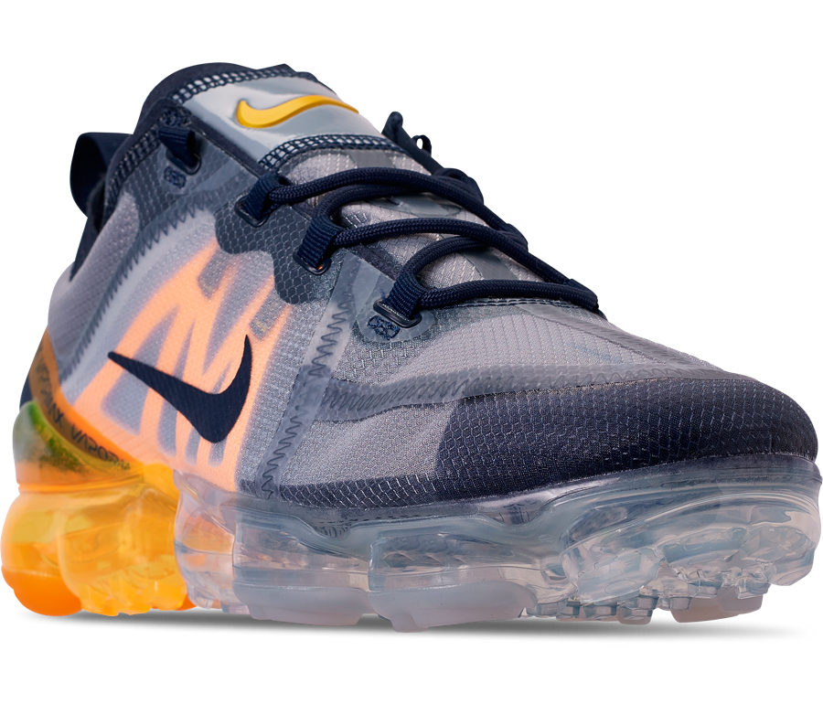 f66b17b8e8 Nike Air VaporMax 2019 Midnight Navy Laser Orange AR6631-401 Release Info |  SneakerFiles