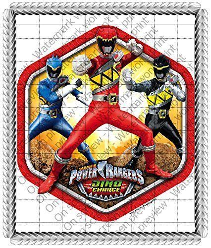 1/4 Sheet Cake - Power Rangers Dino Charge Birthday - Edible Cake or Cupcake Topper - D36879