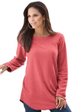 8f95d408 Sherpa Fleece Tunic | Plus Size Tunics | Roamans | Sarah's stuff ...