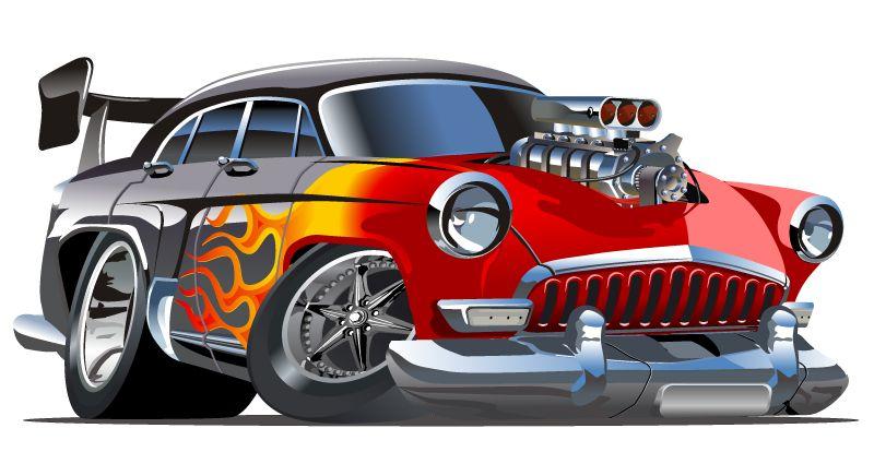 Free Hot Rod Cartoons Cartoon Hotrod Car Vector Free Download Cool Car Drawings Car Vector Hot Rods