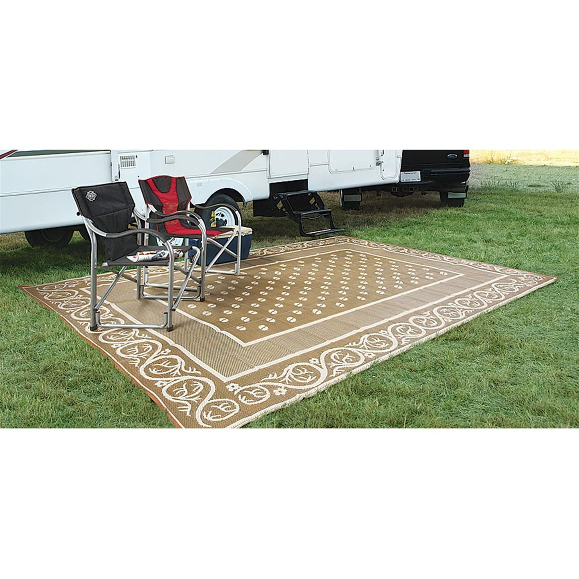 guide gear 9x12 39 reversible patio rv mat 499643. Black Bedroom Furniture Sets. Home Design Ideas