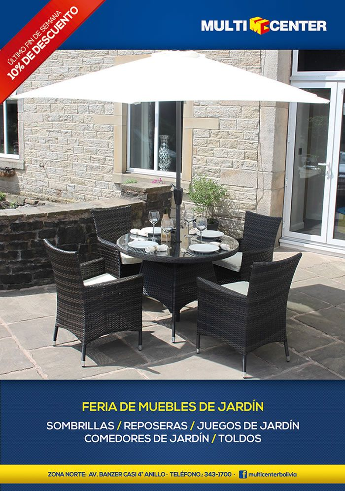 MULTICENTER - Feria Muebles de Jardin - Sombrillas | Reposeras ...