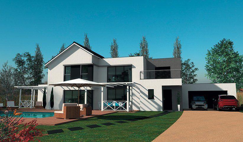 Maison CONTEMPORAINE à étage 200 m² 4 chambres Architecture