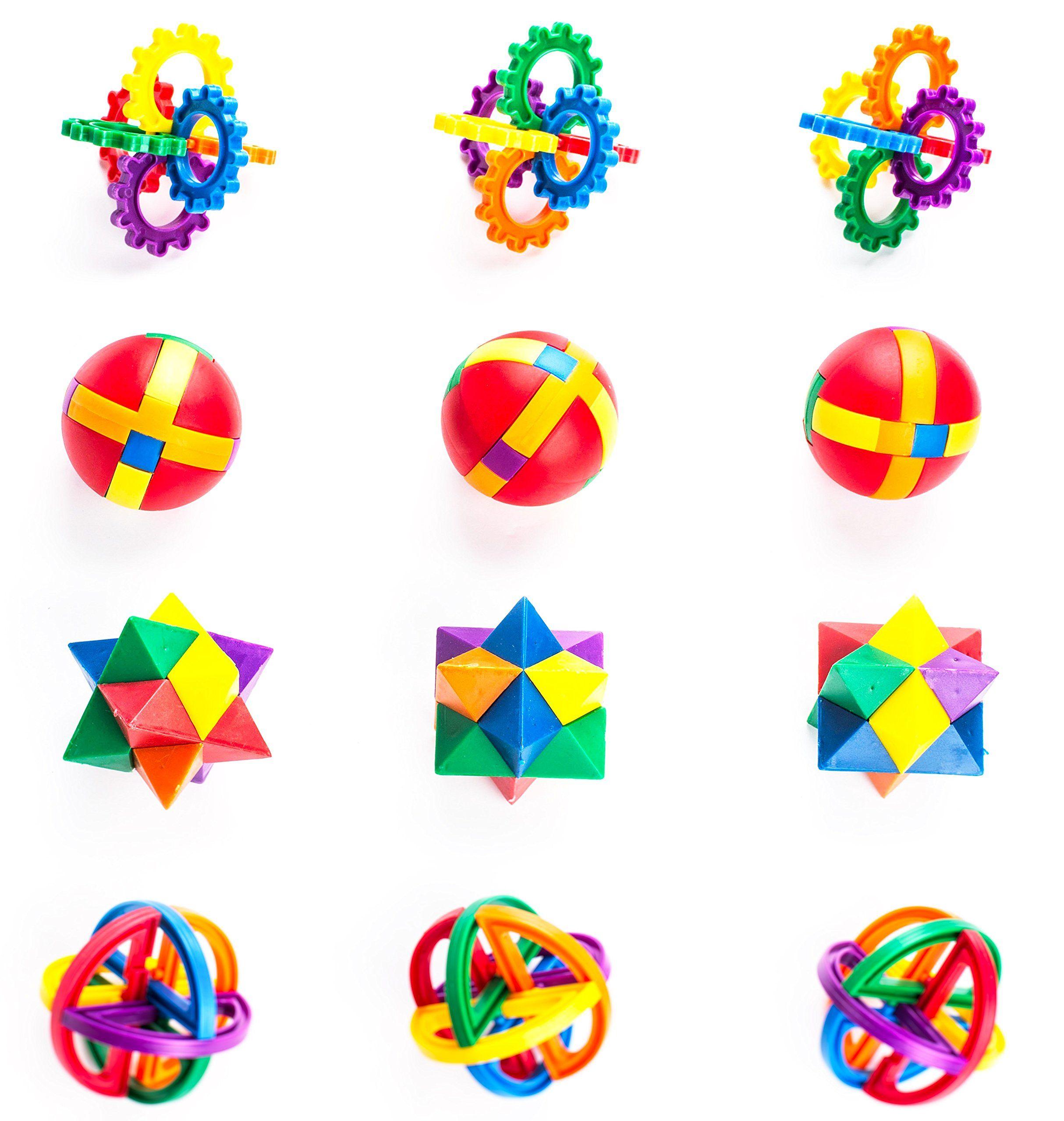 Neliblu Fun Puzzle Balls Goody Bag Fillers Party Favors Party Toys Goody Bag Favors Carnival Prizes Pinata Fille Fun Puzzles Puzzle Ball Brain Teaser Puzzles