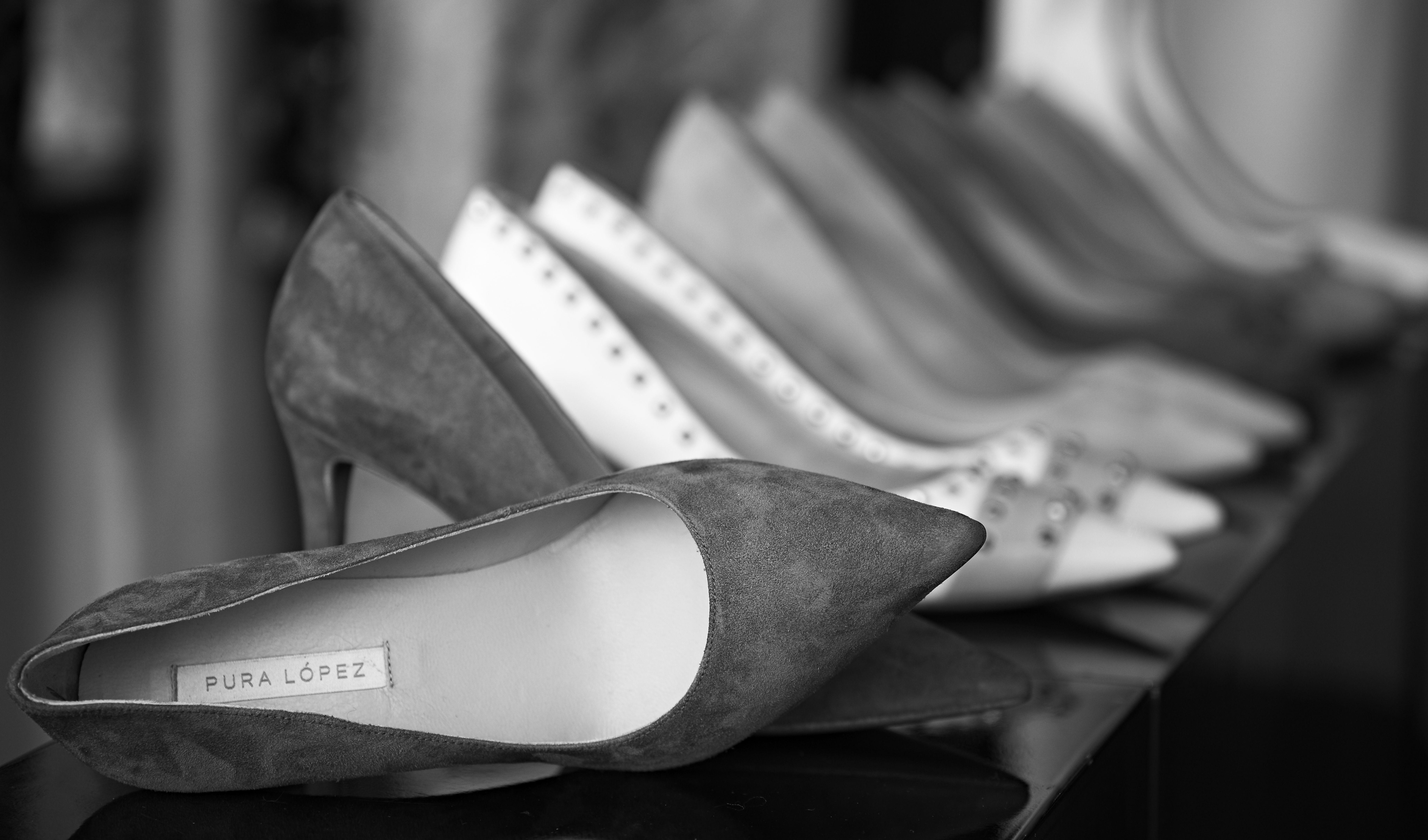Et udvalg af sko der føres i forretningen hos marianne CARØE