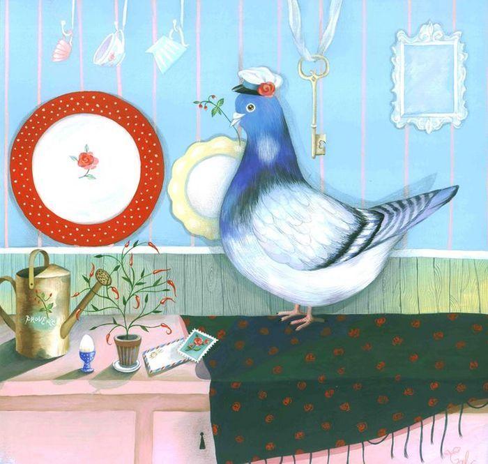 открытки галина роговая елка голубыми синими