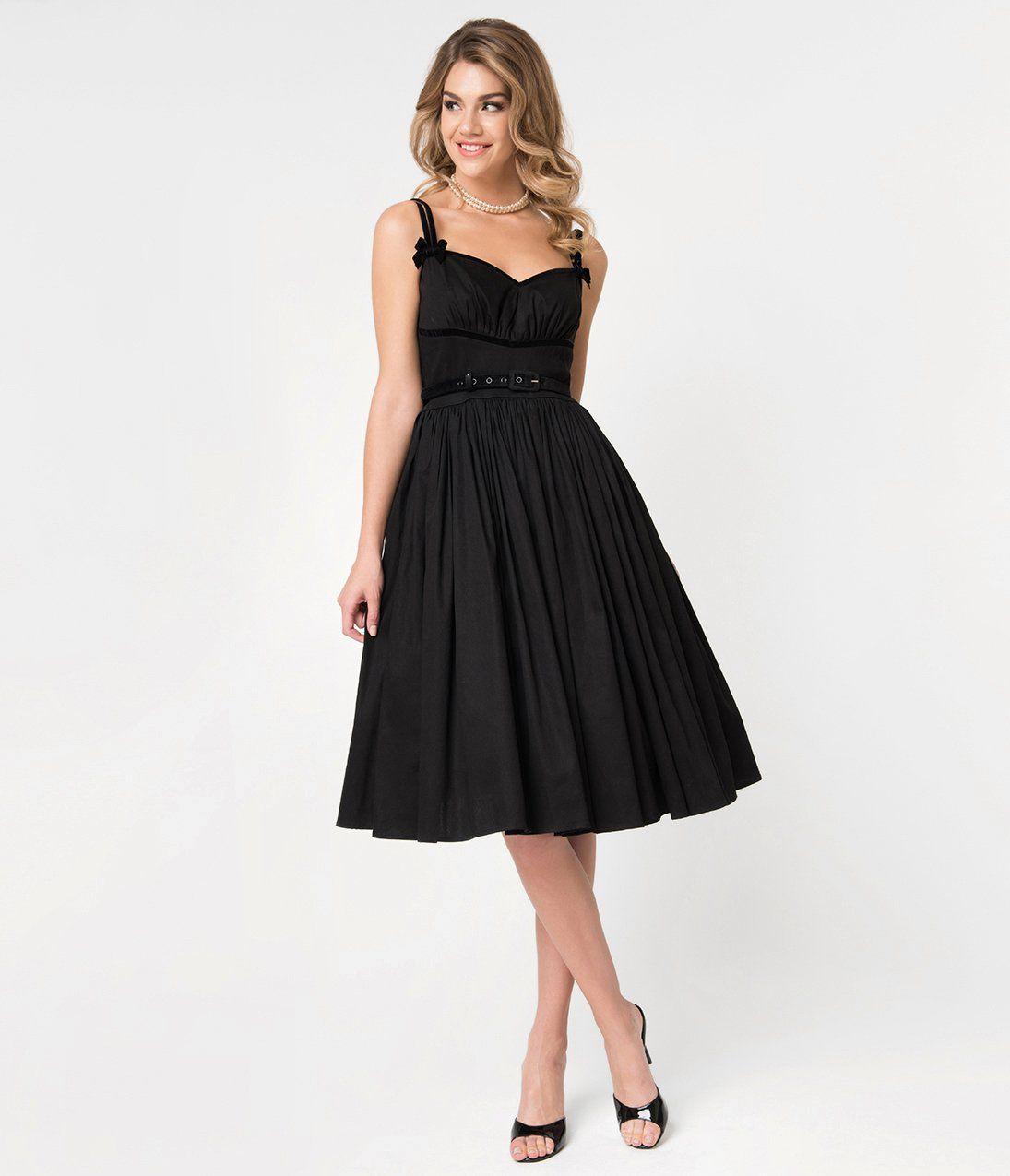 1950s Cocktail Dresses Party Dresses Alice Swing Dress 128 00 At Vintagedancer Com Cocktail Dresses With Sleeves Black Dress Dresses [ 1275 x 1095 Pixel ]